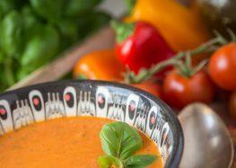 zupa krem z pieczonej papryki z mascarpone