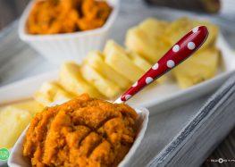 Ananas z pastą z marchewki